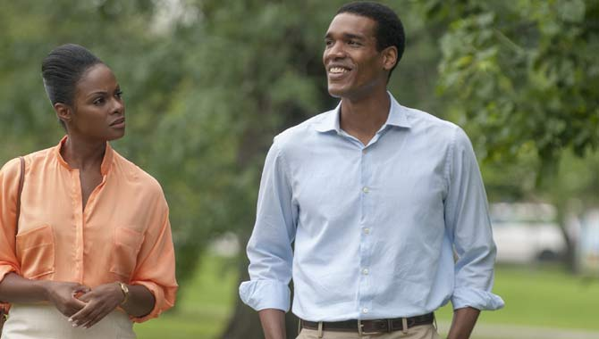 Parker Sawyers and Tika Sumpter in 'Southside With You'
