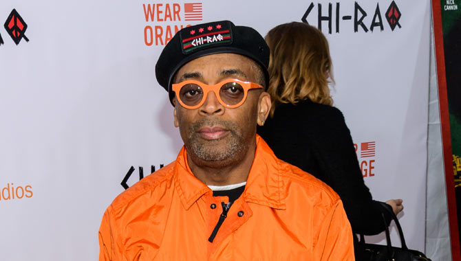 Spike Lee at the premiere of Chi-raq