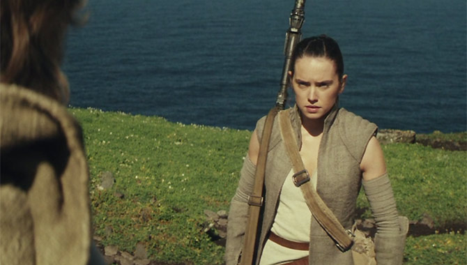 Rey tracks down Luke Skywalker in Star Wars Episode VIII
