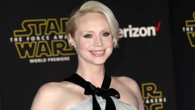 Gwendoline Christie at the premiere for 'Star Wars: The Force Awakens'