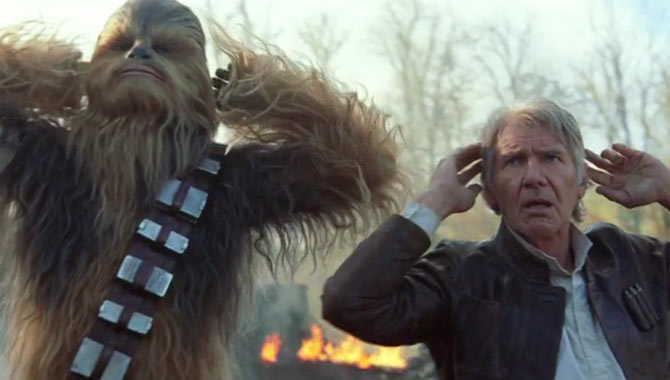 Chewbacca and Han Solo made their return in 'Star Wars: The Force Awakens'