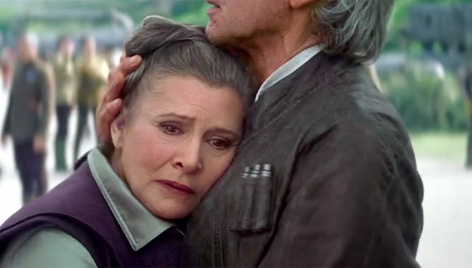 Carrie Fisher made her return as Leia in 'Star Wars: The Force Awakens' back in 2015