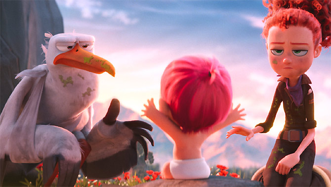 Kelsey Grammer And Andy Samberg Think Storks Celebrates Family