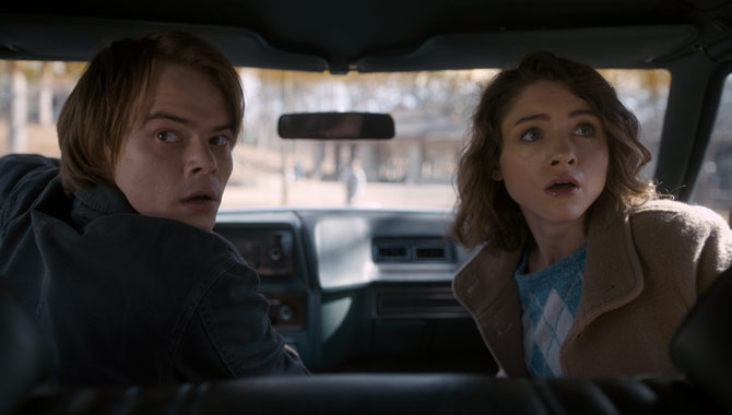 Charlie Heaton and Natalia Dyer star in the show's second season