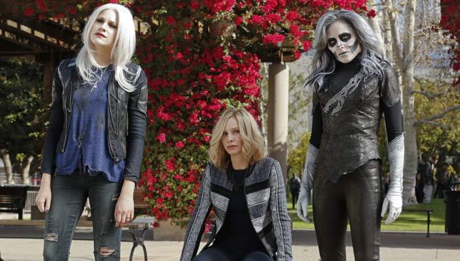 Brit Morgan, Calista Flockhart and Italia Ricci in Supergirl