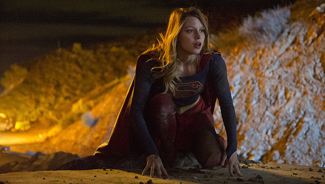 Melissa Benoist plays the titular hero in 'Supergirl'