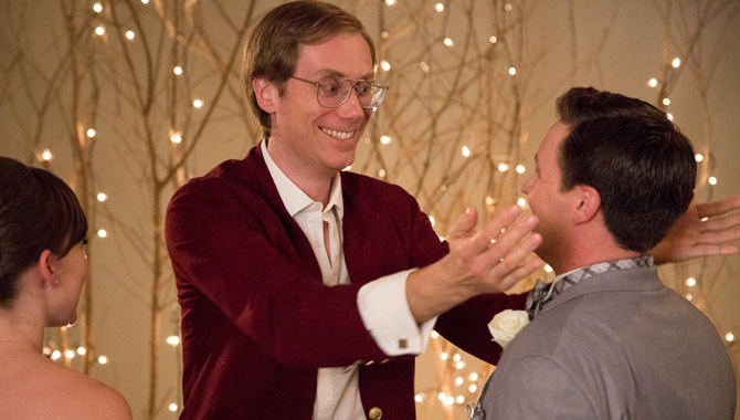 Stephen Merchant plays Walter Thimple in 'Table 19'