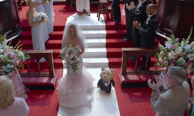 Jessica Barth and Ted marry in Ted 2