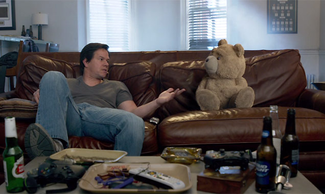 Mark Wahlberg and Ted in Ted 2