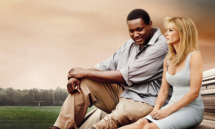 Michael Oher and Sandra Bullock in 'The Blind Side'