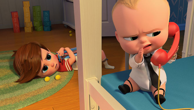 Alec Baldwin plays the titular role in 'The Boss Baby'