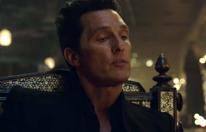 Matthew McConaughey plays the villainous Man in Black