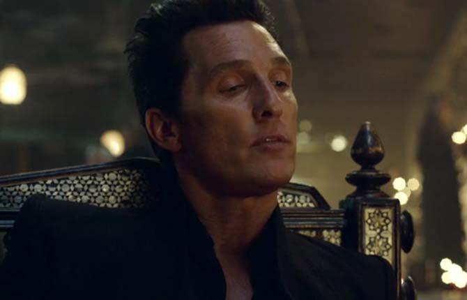 Matthew McConaughey plays the villainous Man in Black