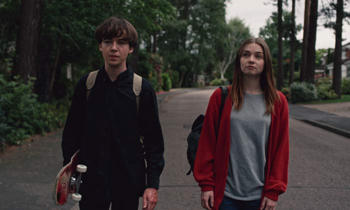 Alex Lawther and Jessica Barden in 'The End of the F***ing World'