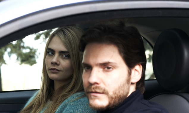 Cara Delevingne and Daniel Bruhl in 'The Face Of An Angel'