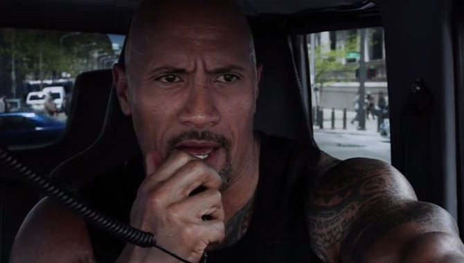 Dwayne 'The Rock' Johnson stars in 'Fast & Furious 8'