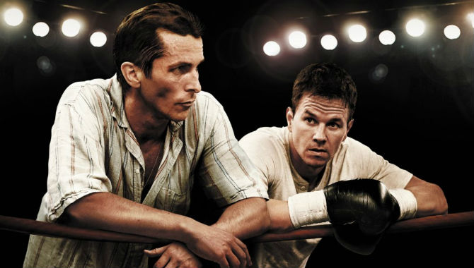 Christian Bale and Mark Wahlberg in 'The Fighter'