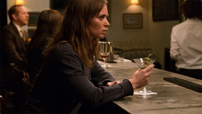 Emily Blunt's character sipping on a Martini in The Girl On The Train