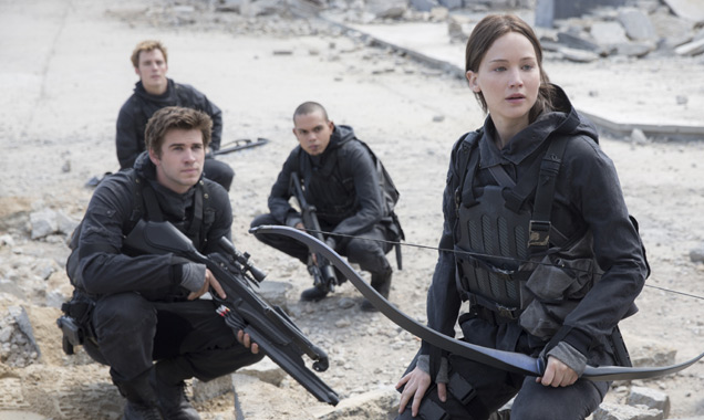 Jennifer Lawrence and others in 'The Hunger Games: Mockingjay - Part 2'