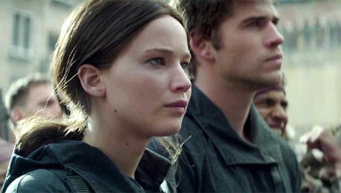 Jennifer Lawrence in Mockingjay Part 2