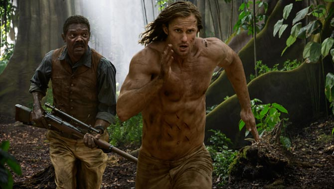 Samuel L. Jackson and Alexander Skarsgard in 'The Legend Of Tarzan'