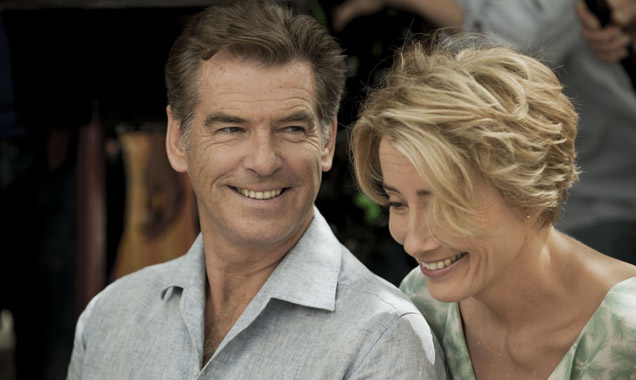 Pierce Brosnan and Emma Thompson