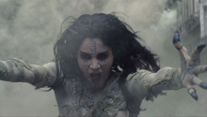 Sofia Boutella stars in 'The Mummy'