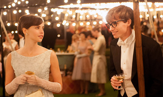 Felicity Jones and Eddie Redmayne in 'The Theory Of Everything'