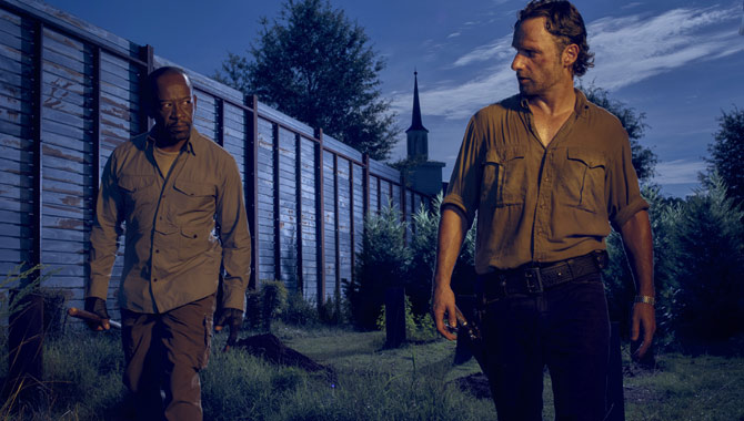 Lennie James and Andrew Lincoln play Morgan and Rick