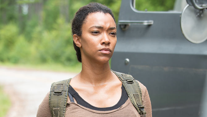 Sonequa Martin-Green as Sasha in 'The Walking Dead'