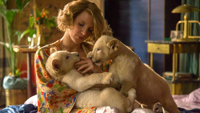 Jessica Chastain stars in 'The Zookeeper's Wife'