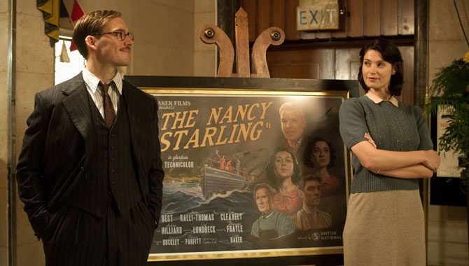 Sam Claflin and Gemma Arterton in 'Their Finest'