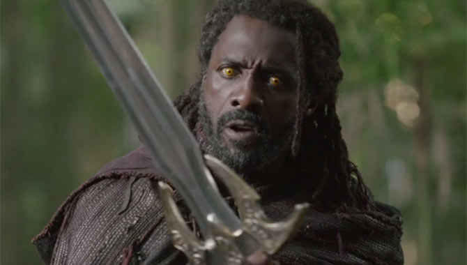 Idris Elba makes his Marvel debut as Heimdall