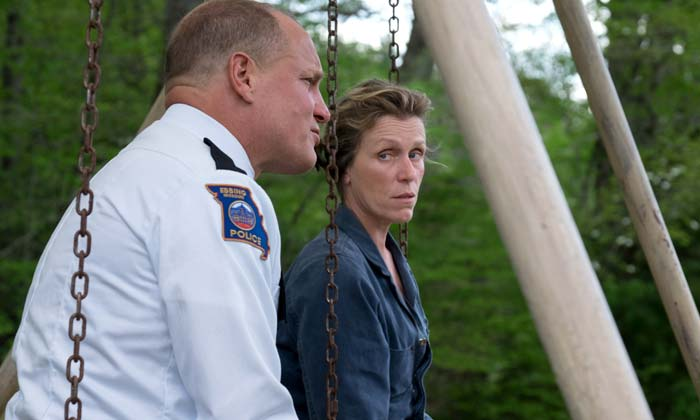 Woody Harrelson and Frances McDormand in 'Three Billboards...'