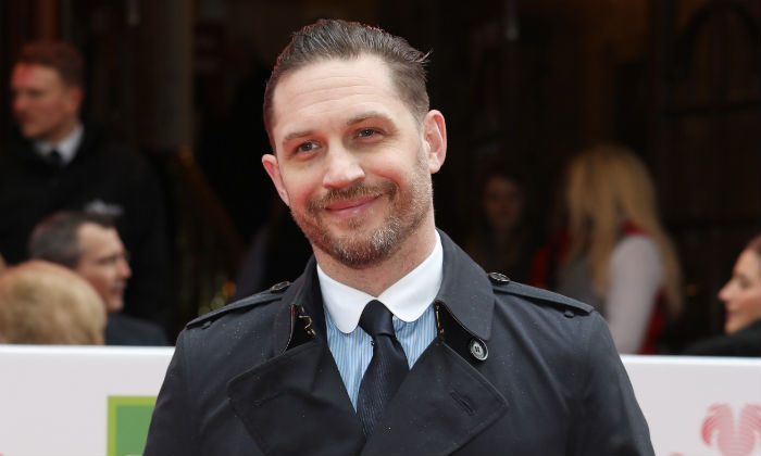 Tom Hardy at the Prince's Trust awards