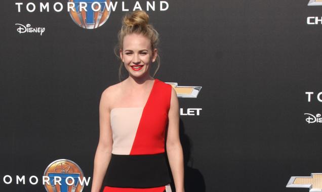 Britt Robertson at Tomorrowland premiere