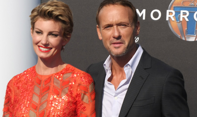 Faith Hill and Tim McGraw at Tomorrowland premiere