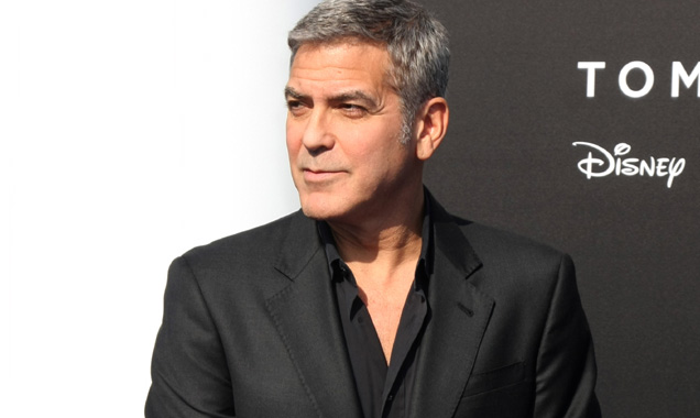 George Clooney at Tomorrowland premiere