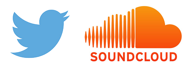 Twitter and Soundcloud logos