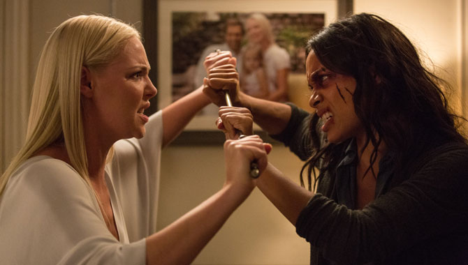 "Katherine Heigl On Co-Star Rosario Dawson: ""She's An Absolute Dream"""