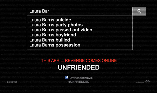The poster for 'Unfriended'