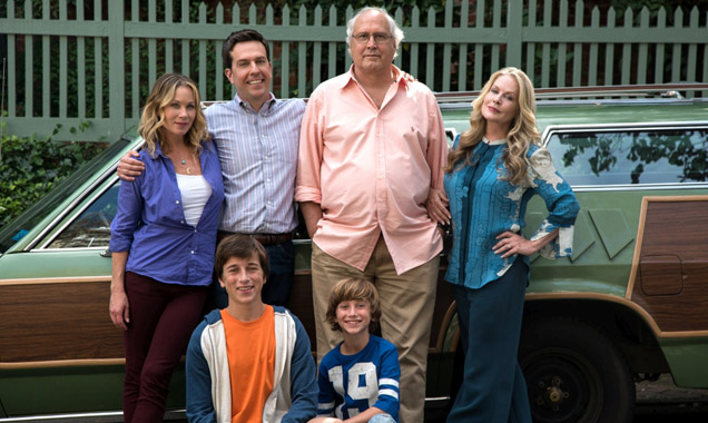 Ed Helms with Vacation originals Chevy Chase & Beverly D'Angelo