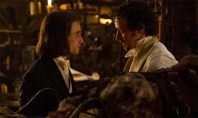 James and Daniel play the lead roles in Victor Frankenstein