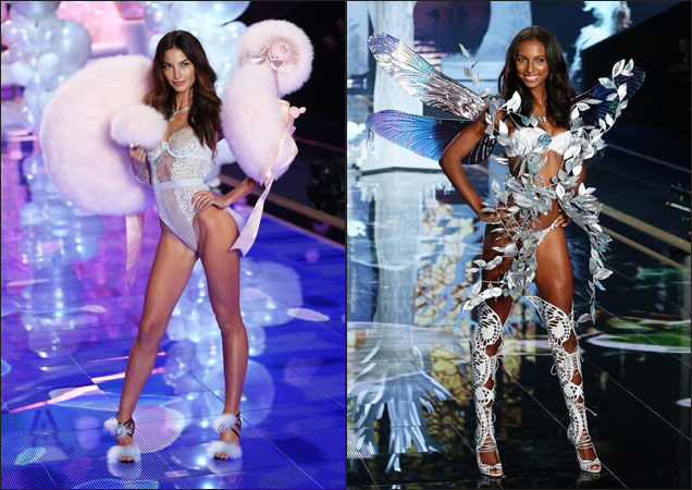 Lily Aldridge and Jasmine Tooke at the 2014 Victoria's Secret Fashion Show