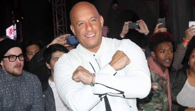 Vin Diesel with fans at the US premiere of xXx: The Return Of Xander Cage