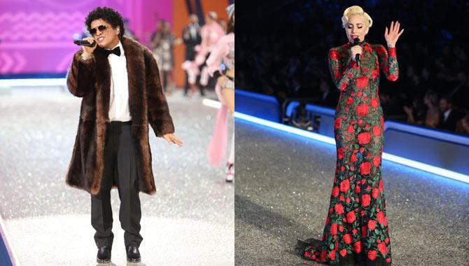 Bruno Mars and Lady Gaga