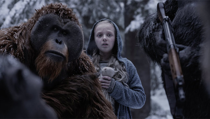 Amiah Miller in 'War For The Planet Of The Apes'
