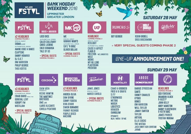 We Are FSTVL 2016 poster