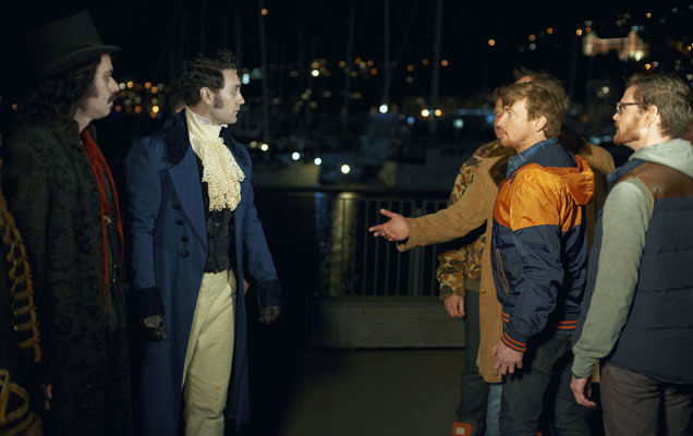 Jemaine Clement, Taika Waititi and Rhys Darby in 'What We Do In The Shadows'
