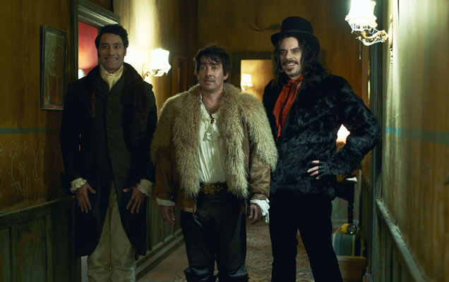 Taika Waititi, Jonathan Brugh and Jemaine Clement in 'What We Do In The Shadows'